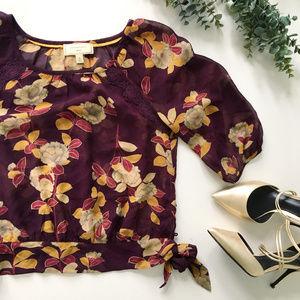 Anthropologie Moulinette Soeurs Silk Floral Blouse